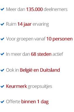 De beste bedrijfsuitjes in Breda